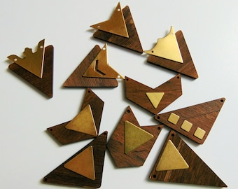 Laser Cut Wood Shapes , Geometric Shapes, Do it Yourself  Jewelry