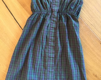 Strapless Grunge Tartan Plaid Dress