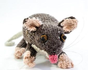KNITTING PATTERN, Toy Knitting Pattern, Australian Ringtail Possum, Wildlife Toy, Soft Toy, Knitted Softie Pattern, Australian Wildlife