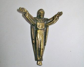 Vintage Jesus Statue Bronze  Statue Figurine
