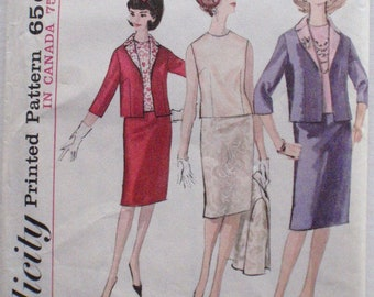 Simplicity 5577 - Skirt Suit And Blouse In Proportioned Sizes - Lined Jacket, Straight Skirt, Sleeveless Blouse - Size 12, Bust 32 - Uncut