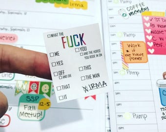 Original F**k Checklists - Red Lily Printables