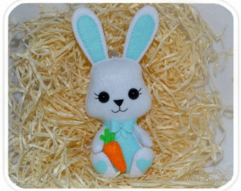 Easter Bunny In gift box Cute felt Easter decoration Easter ornament Easter decor Cute Easter Felt bunny Felt rabbit Easter gift