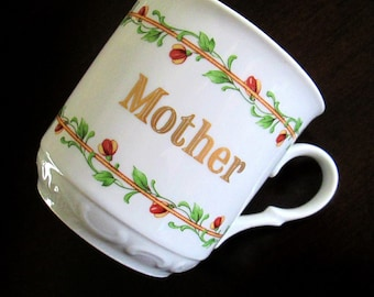 Vintage Mother Mug House of Goebel Coffee Tea Hot Chocolate Mom Cup Gift for Her