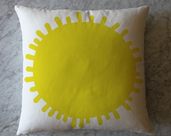 Pillow with Yellow Sun.  October 1, 2013