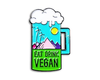 Eat Drink Vegan Pin