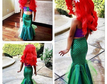 Mermaid Skirt Bandeau Set