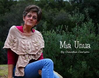 Mia Unua beaded shawl, forest inspired, shawl shoulder wrap. PATTERN