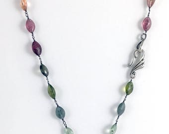 Tourmalines with Heart Pendant