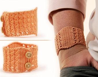 Cuff pattern - crochet cuff pattern - crochet tutorial - diy Cuff bracelet - diy gifts - instant download - bracelet pattern - lace pattern