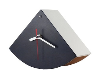 Black & White clock, Wood Desk clock, Table Wooden clock, Handmde Unique gift for him, Spring home decor, Back to school, Mothers day gift