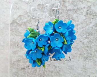 Forget-me earrings, Flower bunches earrings