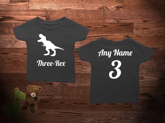 3 Year Old Dinosaur Birthday Shirt Three-Rex Dinosaur Birthday