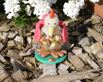 Small Easter hen model pink