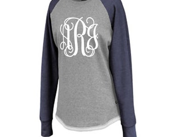 Monogrammed sweatshirt, monogrammed tunic, custom sweathshirt