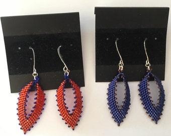 Bi-Color (Two) Russian Leaf Earrings