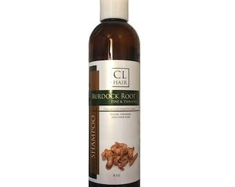 Thinning hair Burdock Root Shampoo aids in hair growth