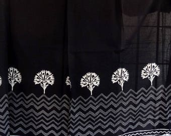 Black and white collection cotton fabric / white borders designs