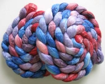 King Arthur - Merino / Tencel Blend Wool Roving (Top) - Handpainted Spinning or Felting Fiber - 4 ounces