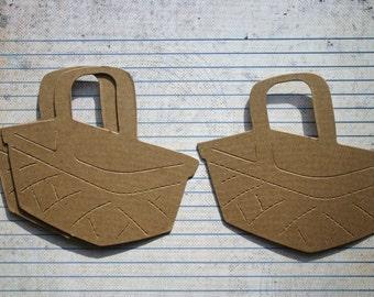 3 Bare chipboard die cuts Picnic Basket Diecuts