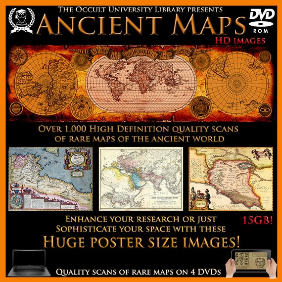 Ancient maps old world map atlas geography large digital like this item gumiabroncs Gallery