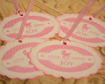 Gift Tags (Set of 50) - Baby Shower - Baby Girl- Baby Carriage - Vintage Style Tags - Food Label - Rustic