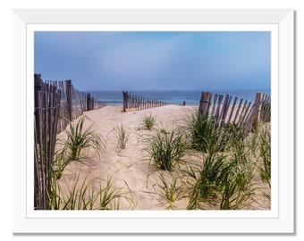 Beach Grass, Beach, Shoreline, Beach fencing, Summer, Ocean, Printable Art, Landscape, Photograph Art, Wall Art, Digital, Instant Download