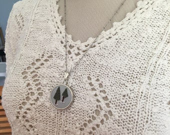 Two trees necklace