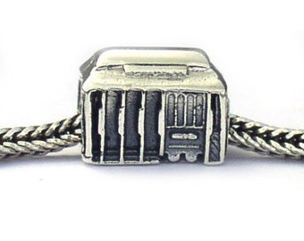 San Francisco Cable Car Sterling Silver Landmark Bead LM031