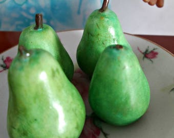 Polymer Clay Miniature Food,Pears, 1/3 Scale Miniature Food for American Girl Dolls, Fruit for Dolls, marysremedies