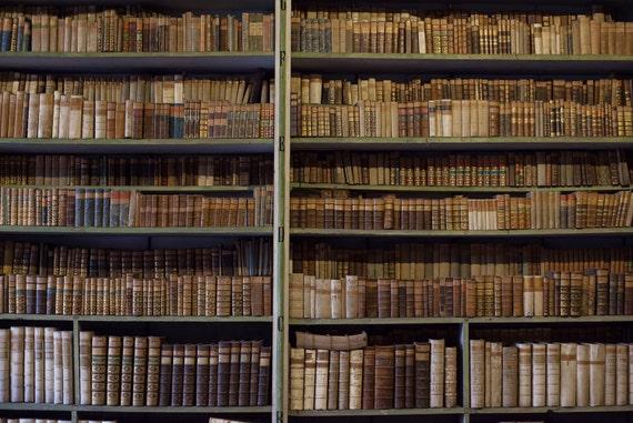 Dark Bookshelf Backdrop Old Vintage Bookcase Book Cabinet