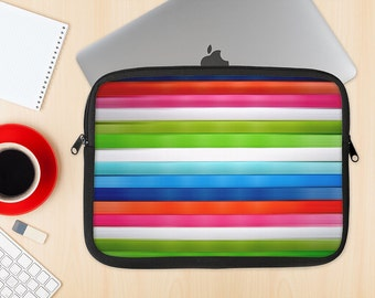 The Neon ColorBar Dye-Sublimated NeoPrene MacBook Laptop Sleeve Carrying Case
