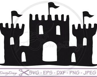 Castle SVG, Castle pdf, eps files, cricut Castle, Castle svg file, Clip Art Castle, Castle cut file, silhouette file DXF castle