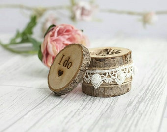 wedding ring box, ring bearer box, double ring box, rustic ring box, rustic wedding decor, engraved ring box, wood wedding box