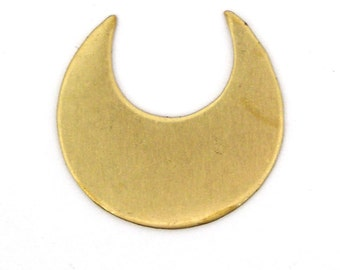 4 Solid Brass Crescent Moon Blanks SKU-BB-1
