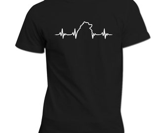 Keeshond heartbeat | Keeshond Shirt | Dog lovers gift idea | Keeshond dog | Heartbeat design | Perfect Gift For Dog Owners