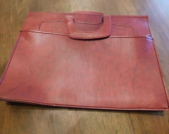 Briefcase Leather Bordaux Organizer Vintage