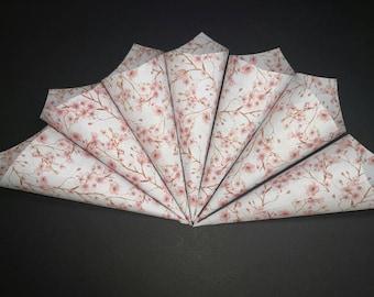 20 Confetti Cones with Pink Cherry Blossom Design