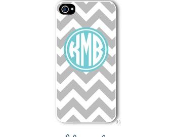 Personalized iPhone Case Custom Monogram Case iPhone 4 5 5s 5c 6 6s 6 Plus, Samsung Galaxy S4 S5 S6 Tough Phone Case Chevron Style 208