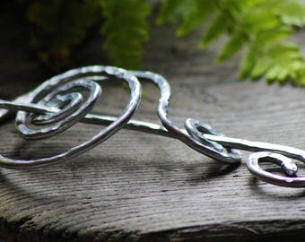 Large Celtic Hair Barrette - Game of Thrones Gift - Unique Unusual Gift for Women - Friend Girlfriend Gift for Wife - Silver Metal Hair Clip