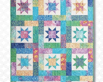Lucky Stars Quilt Pattern by Atkinson Designs