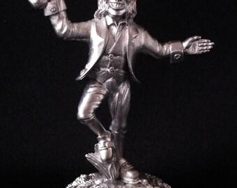 Antique finish dancing Irish leprechaun metal miniature - EDLEP5S