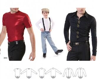 Jalie 2802 - Bodysuits for Boys and Men / 22 Sizes / Child & Adult