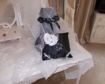 cushion black wedding rings black garter