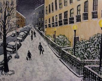 Snowy Night  - 12 x 16