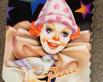Vintage 80's clown notepad