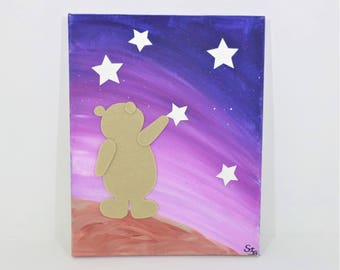 "Table ""Bear in the stars"", pink"