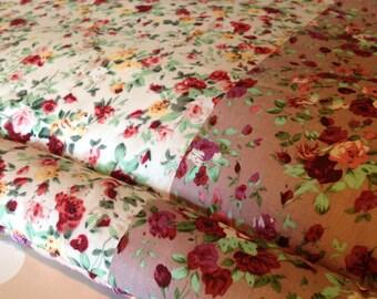 SALE: Baby Floor Mat, Pink Roses Nursery Floor Mat, Baby Gift