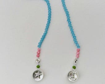 Blue Back reversible necklace