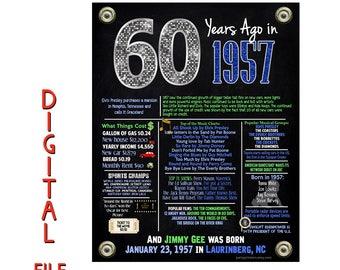 60th birthday decorations, 60th birthday party, birthday party supplies, 60th birthday gifts, the year you were born, milestone birthday